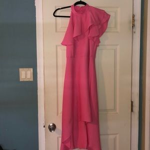 Rachel Roy size 4 one shoulder short/long dress